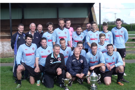 1st Team League & Cup trophies April 2015